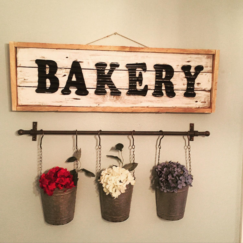 Panneau en bois de boulangerie