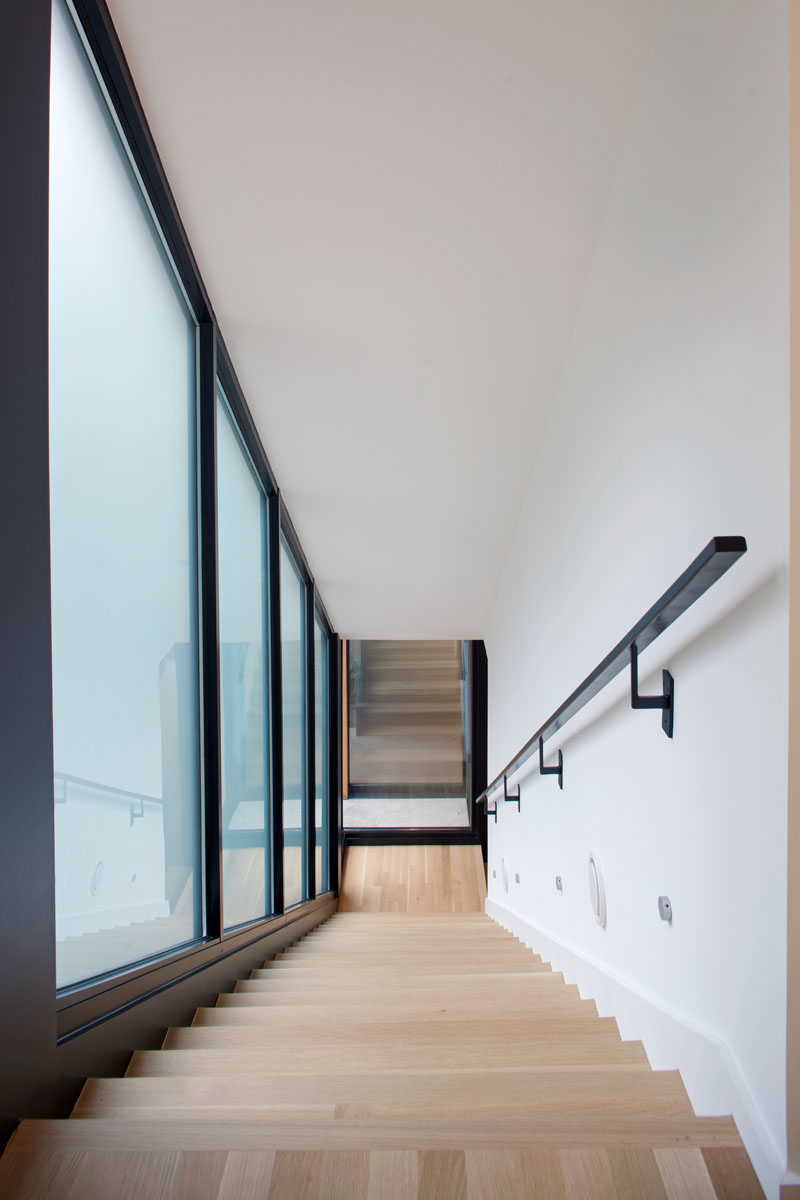 escaliers de la résidence Medlin