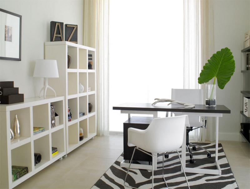 beau bureau à domicile