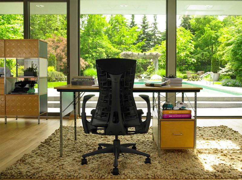 Bureau à domicile moderne