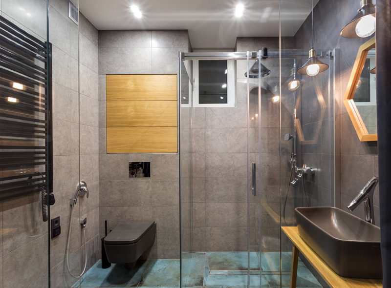 verre de douche