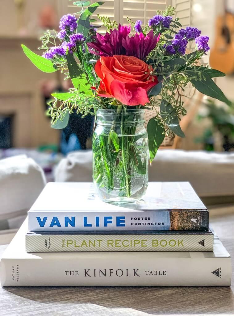 Vase simple en pot Mason sans fioritures