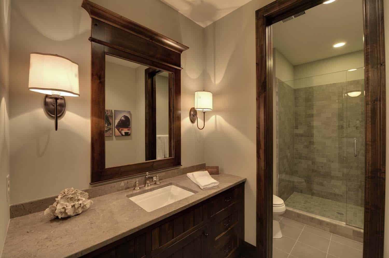 salle de bain au sous-sol transitionnel