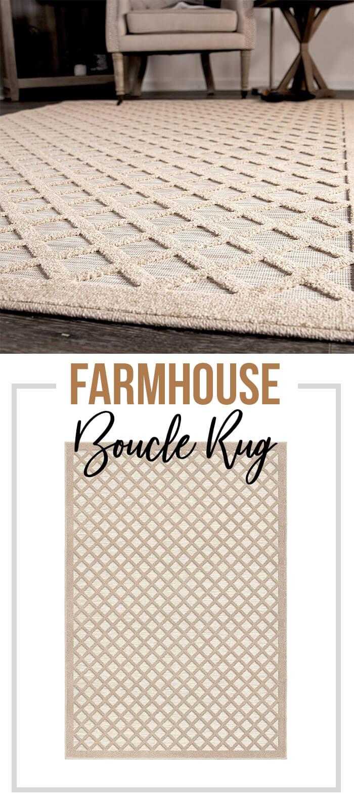 Tapis d'intérieur / extérieur Farmhouse Boucle
