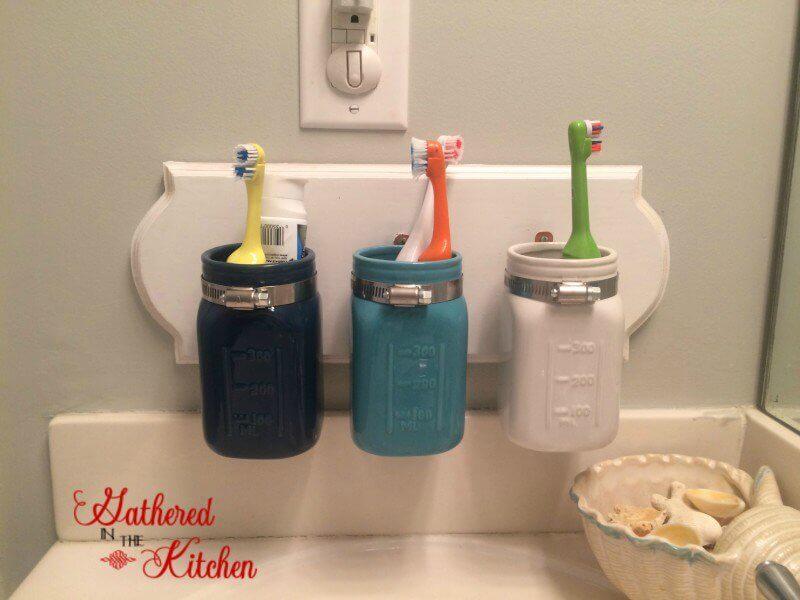 Station de brosse à dents pour enfants Personal Mason Jar