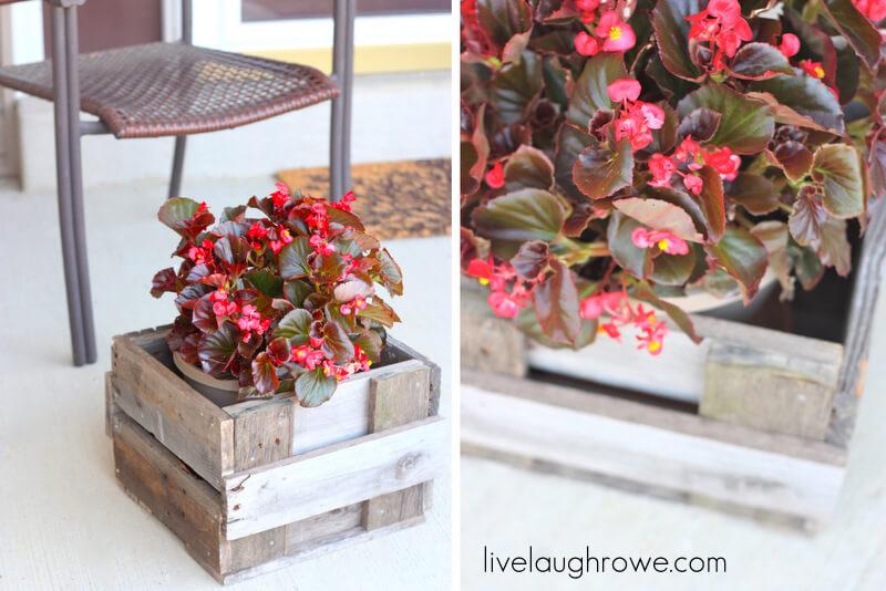 Petite jardinière en palette Sweet and Simple