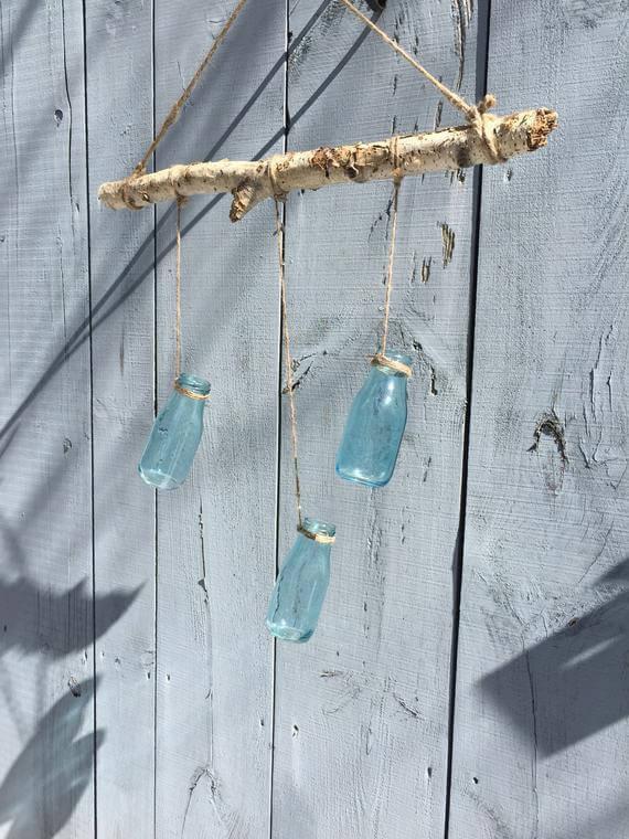 Vase ou lustre à suspendre rustique