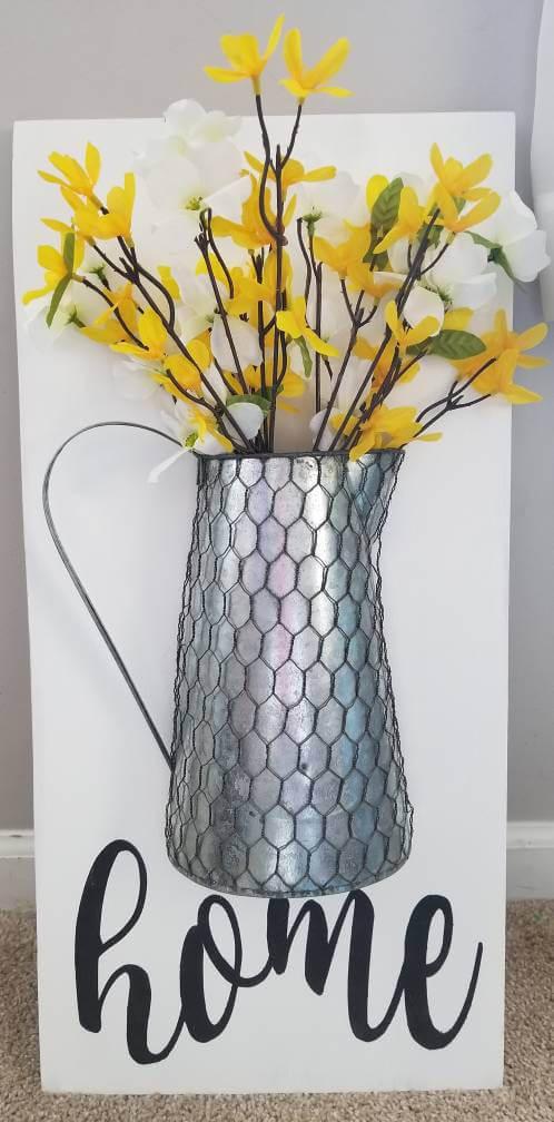Vase de ferme rustique câblé au poulet