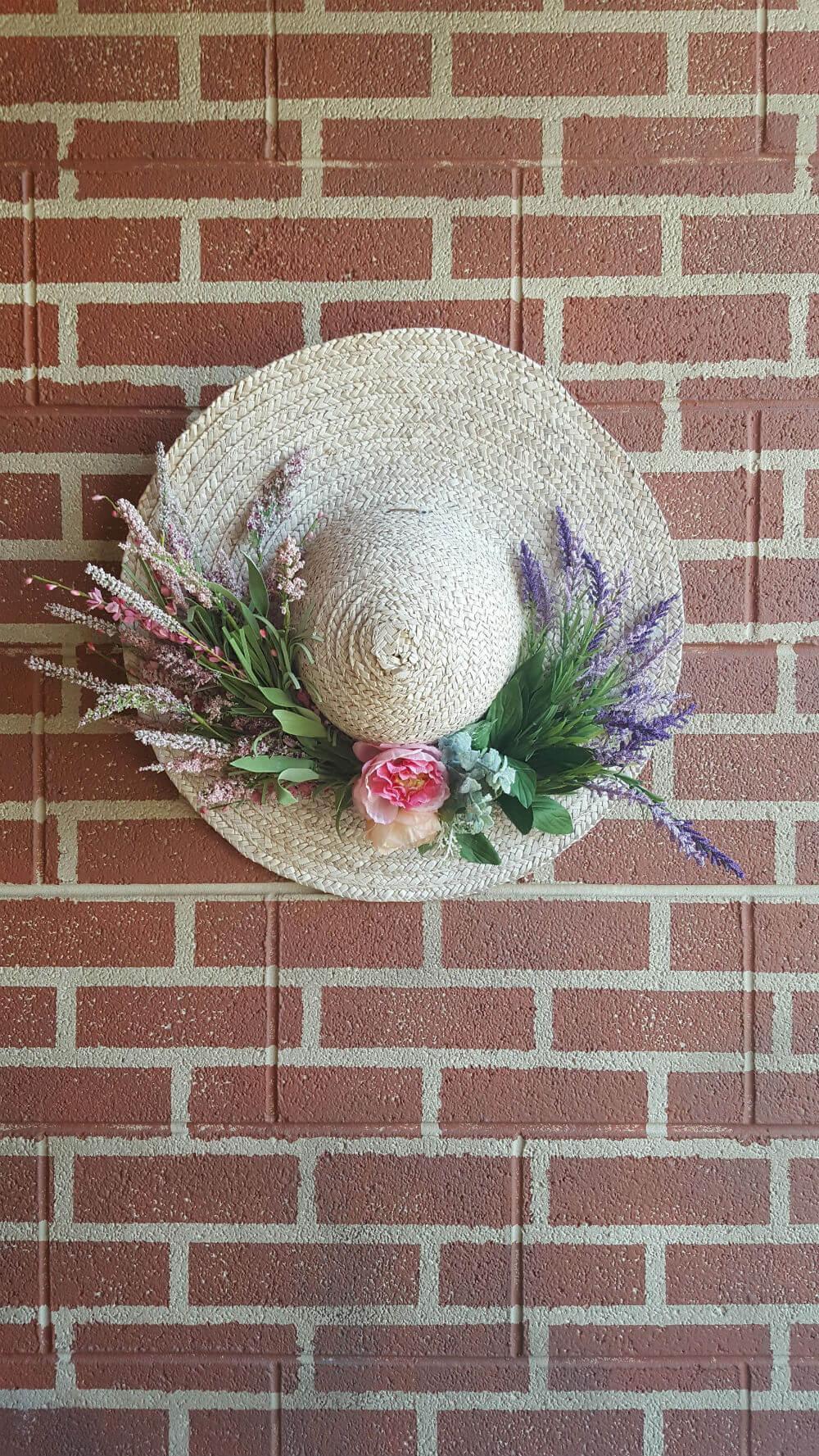 Chapeau de jardin suspendu floral Shabby Chic