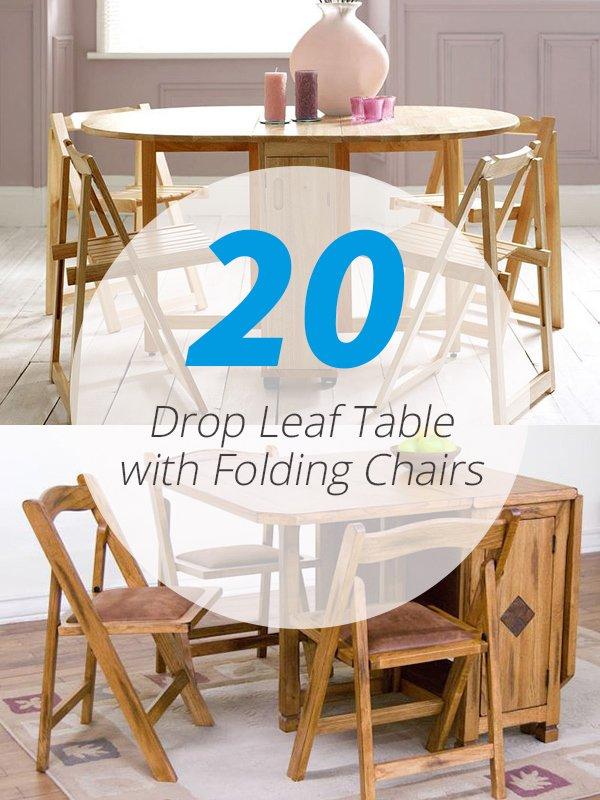 tables à abattant chaises pliantes