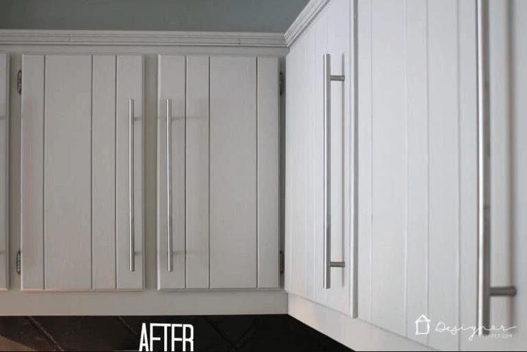 Une nouvelle couche de peinture pour mettre à jour les armoires existantes