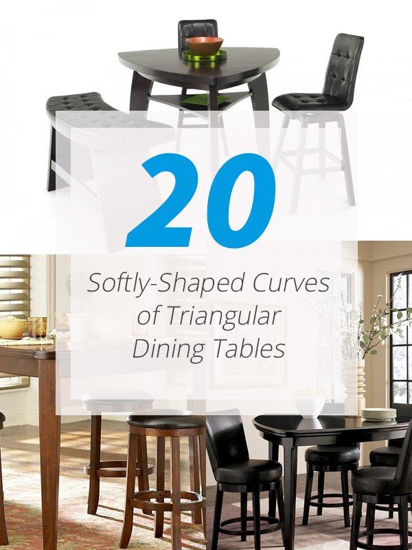 Tables de salle à manger triangulaires
