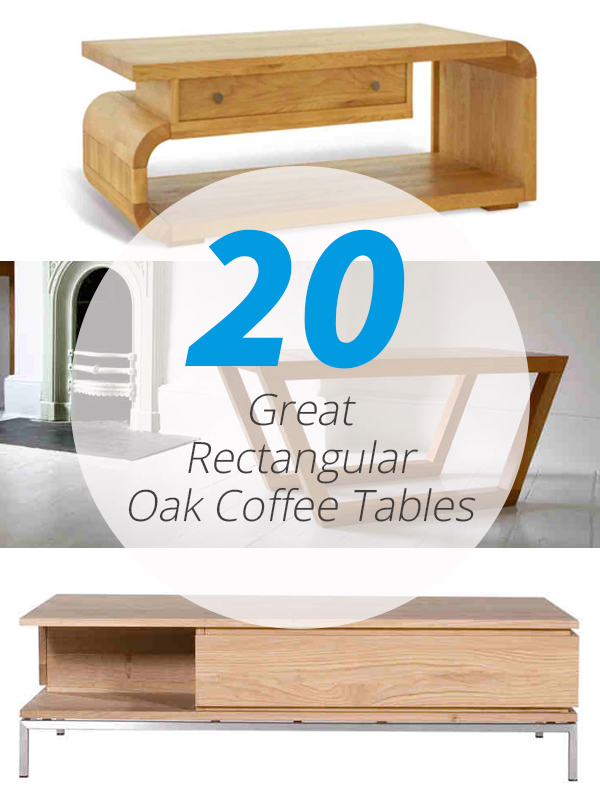 tables basses rectangulaires en chêne