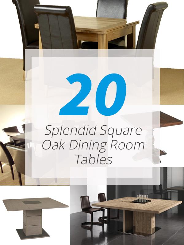 tables carrées en chêne