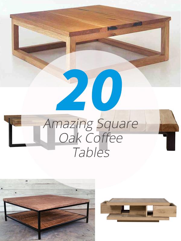 tables basses carrées en chêne
