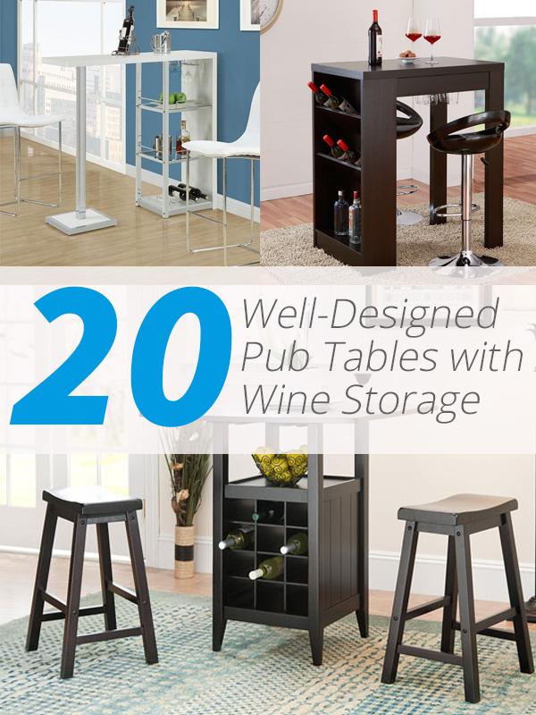 stockage de vin de table de pub