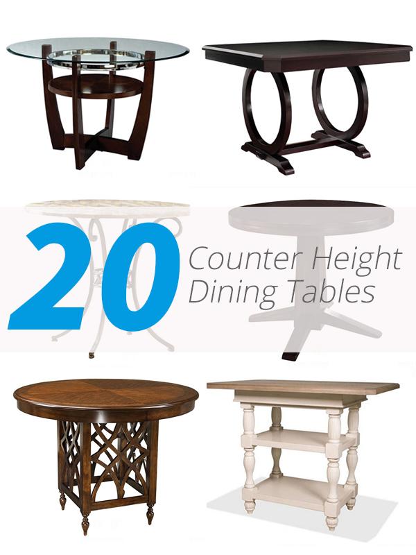 tables de hauteur de comptoir