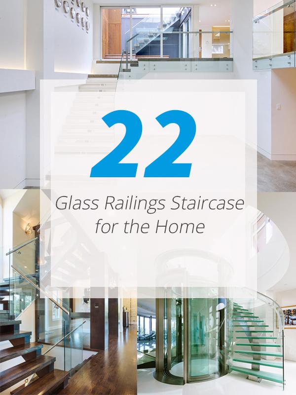 maison de garde-corps d'escalier en verre