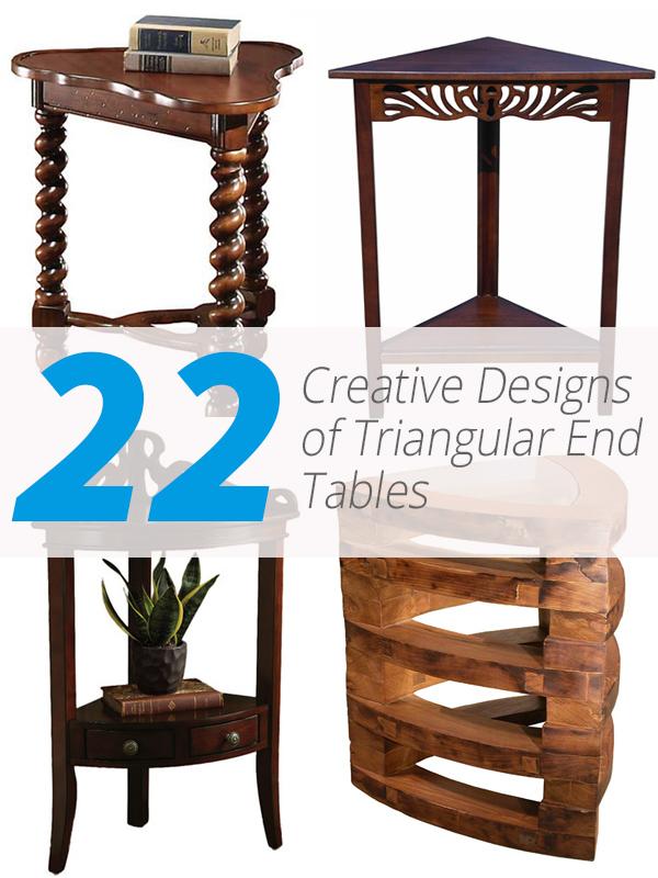 tables d'extrémité triangulaires