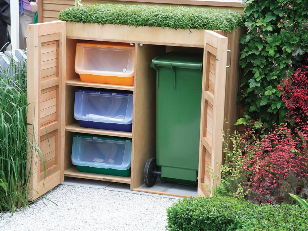 Projets cachés intelligents pour le stockage de jardin