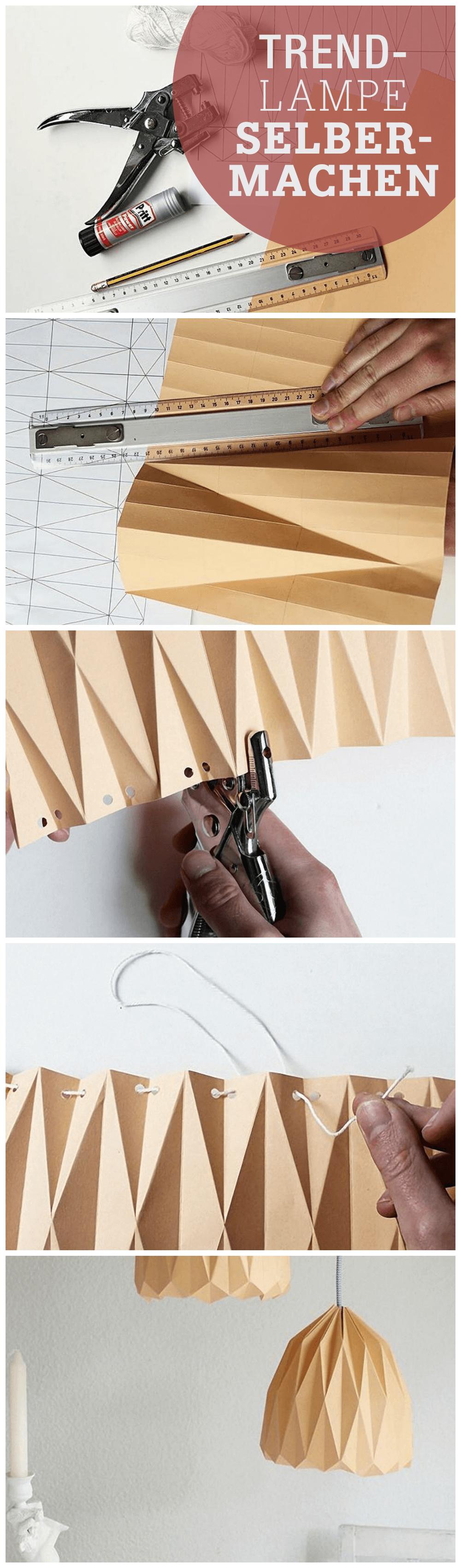 Abat-jour en papier inspiré de l'origami