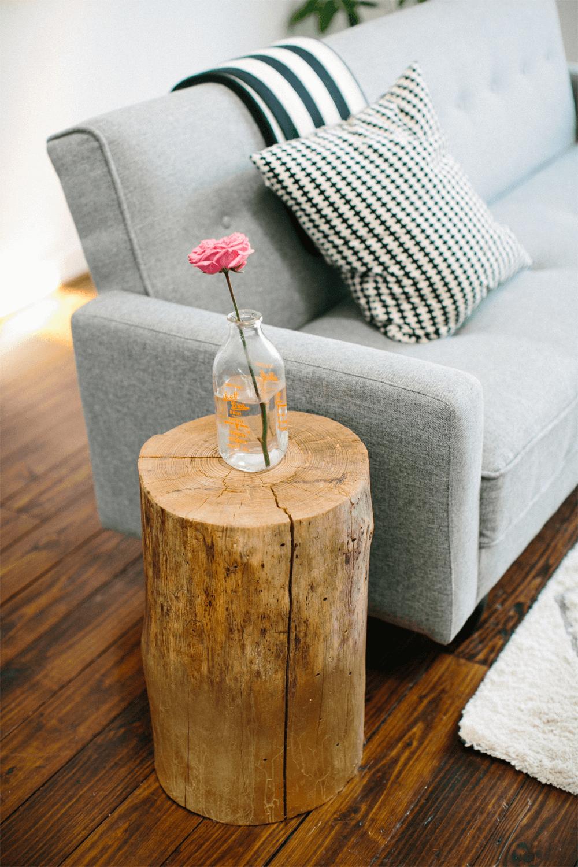Table en bois rustique Logger's Retreat