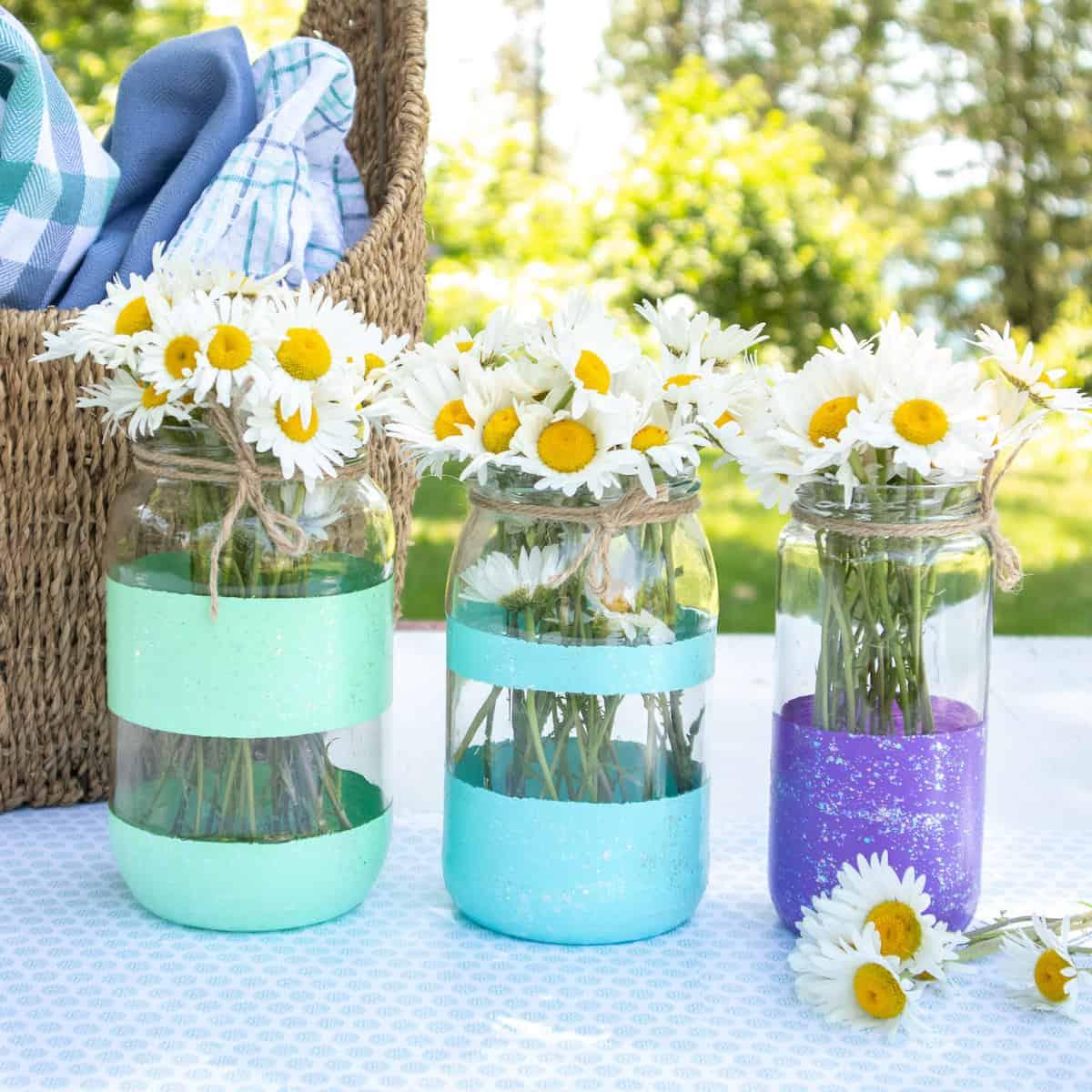 Vases en pot peints à la main cool et créatifs