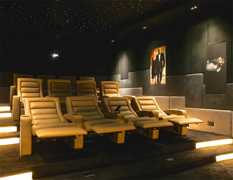 fauteuils de cinéma en cuir