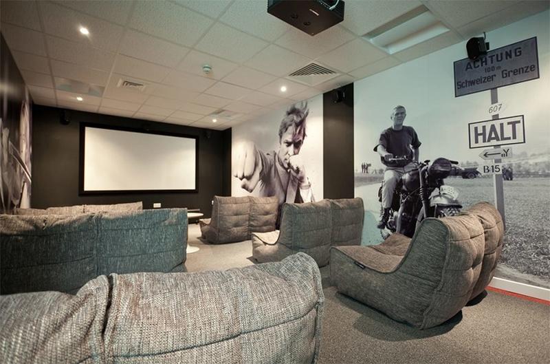 Cinéma maison contemporain