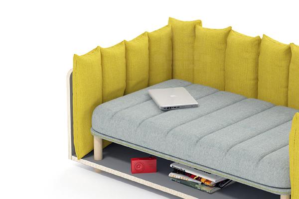 meubles de canapé jaune