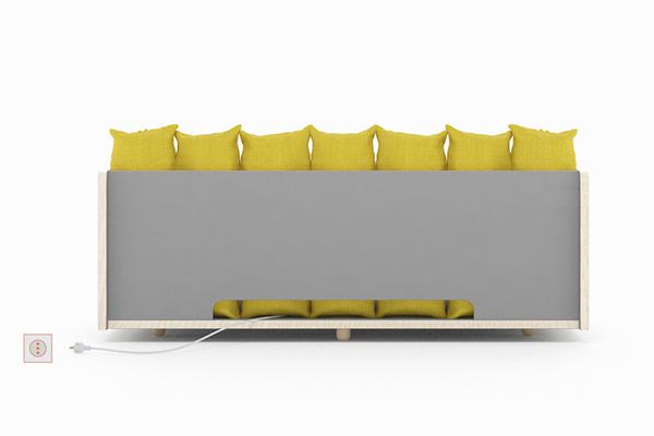 conception de dossier de canapé