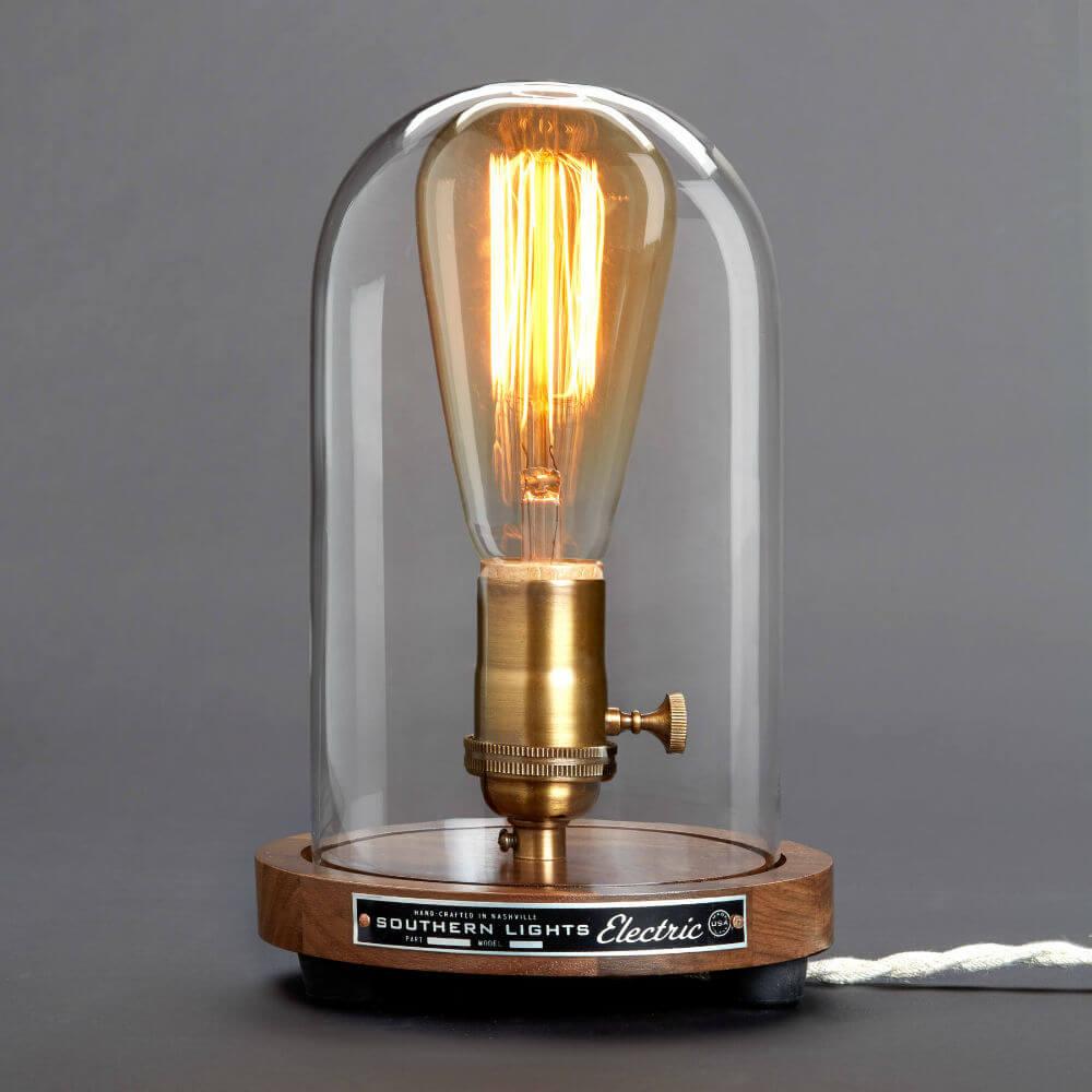 Lampe de table récréée Edison Bell Jar