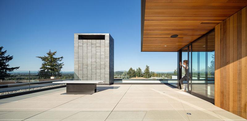 Terrasse sur le toit de Ash House Porland