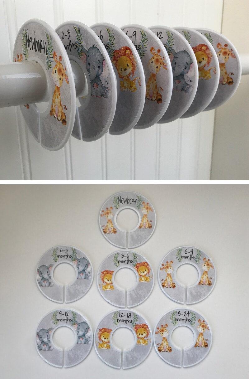 Séparateurs de placard pour la chambre de bébé