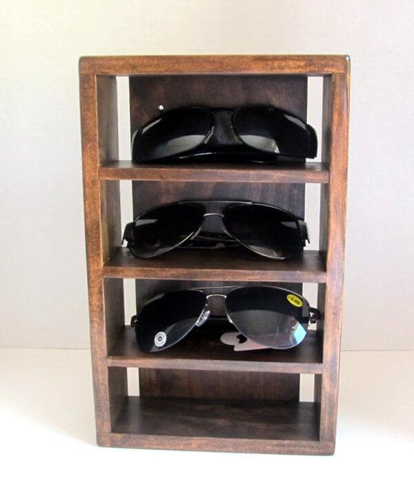 Porte-lunettes de soleil rustique simple avec support mural