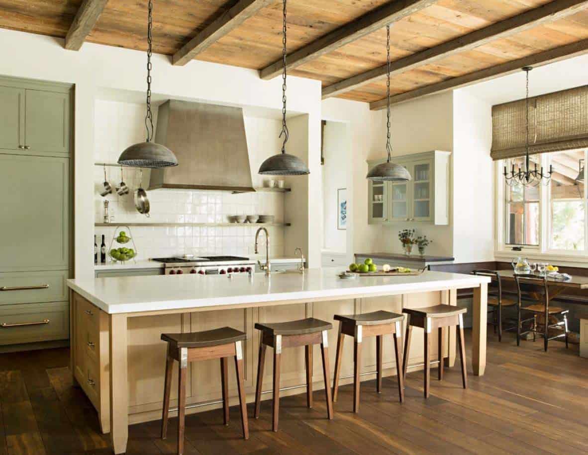 cuisine de maison de montagne rustique