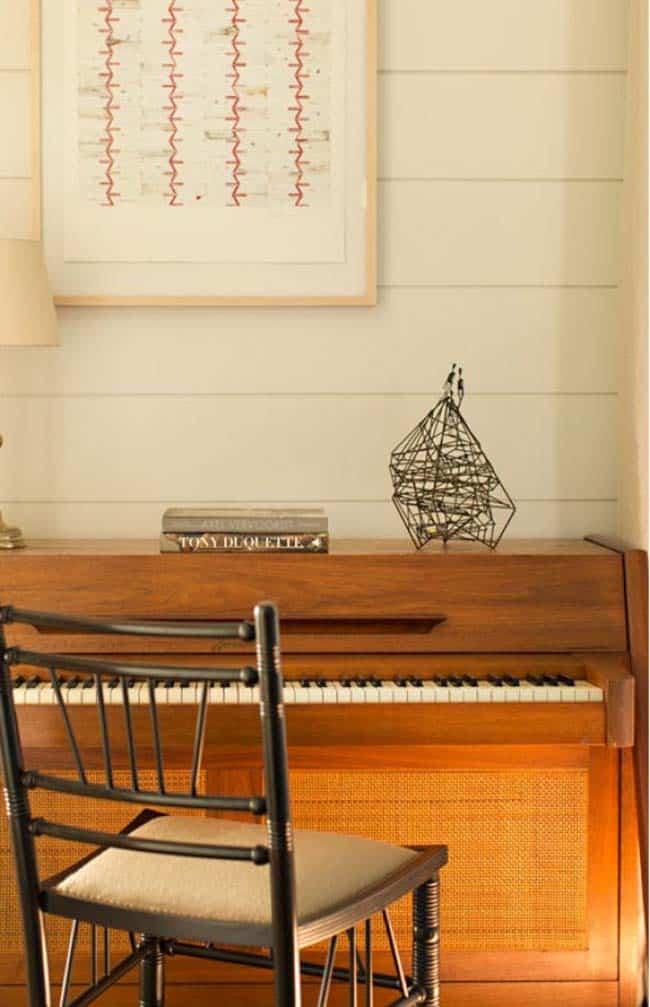 piano de maison de montagne rustique