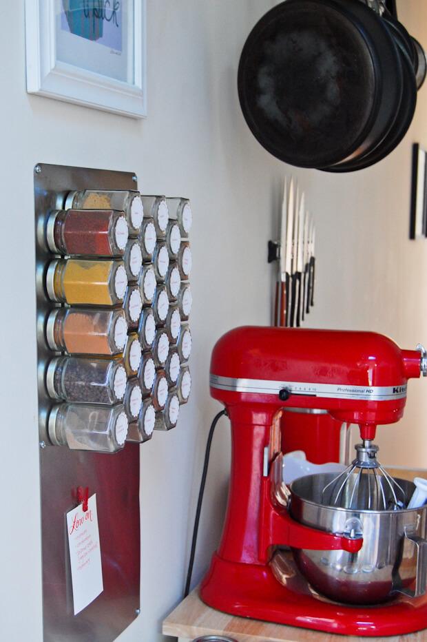 Organisation facile des épices