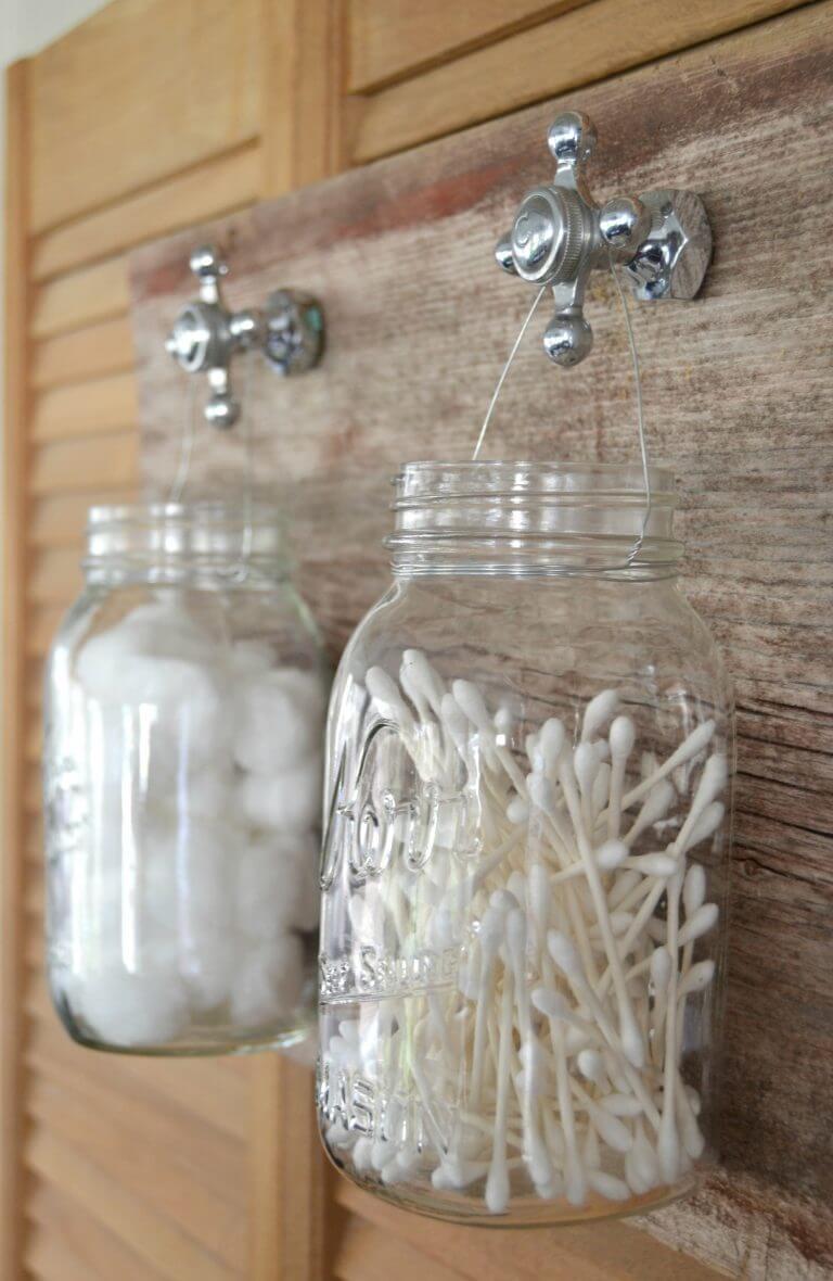 Rangement de salle de bain rustique