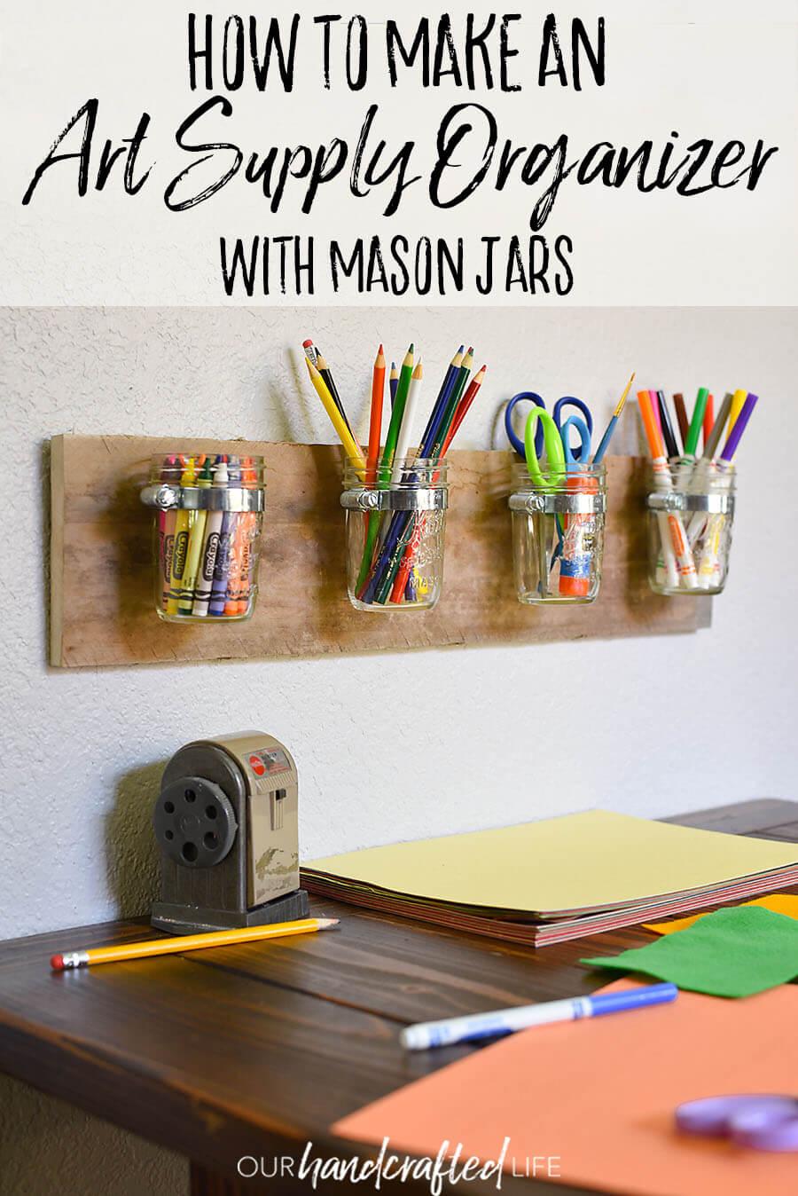 Gardez vos fournitures artistiques ensemble