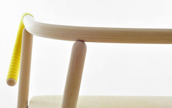 chaise de texture en bois