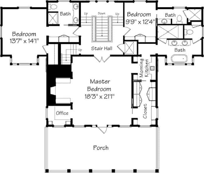 Maison traditionnelle de style côtier-Concepts historiques-22-1 Kindesign