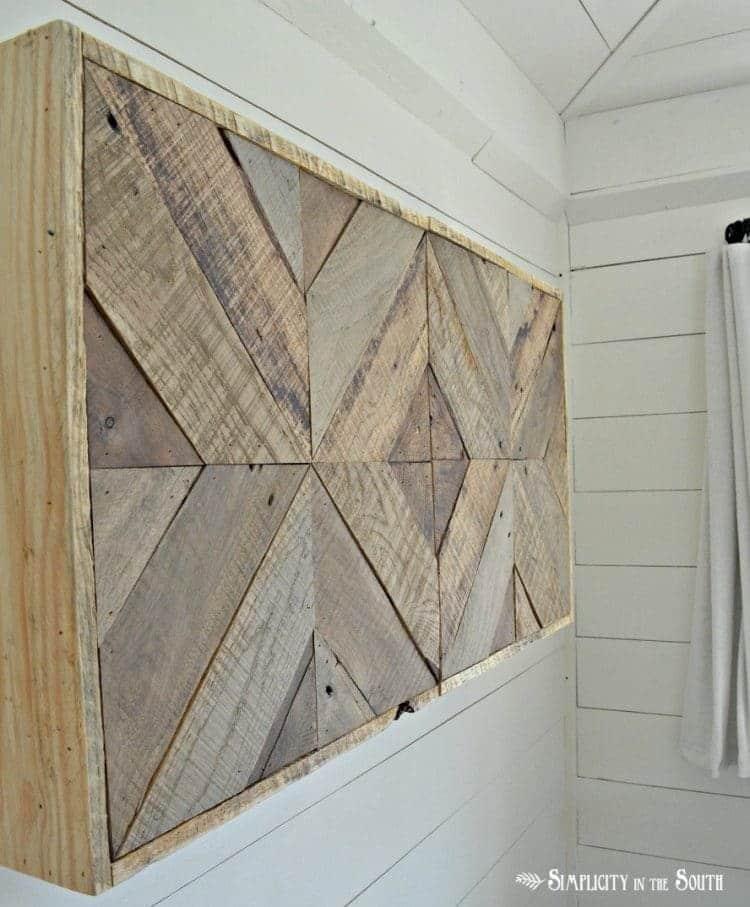 Pièce d'art murale en bois tridimensionnelle
