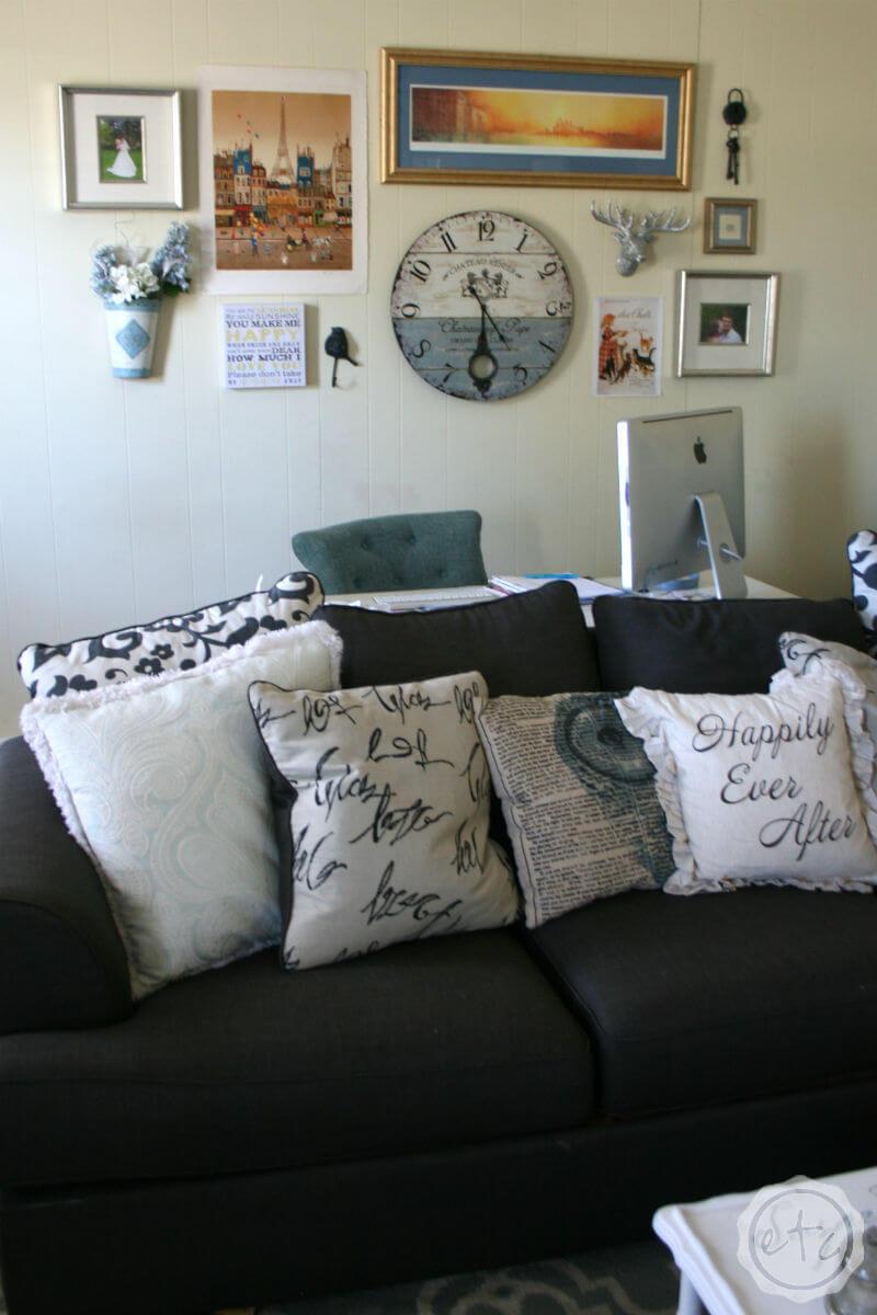 Conception de maison heureuse chaleureuse et confortable