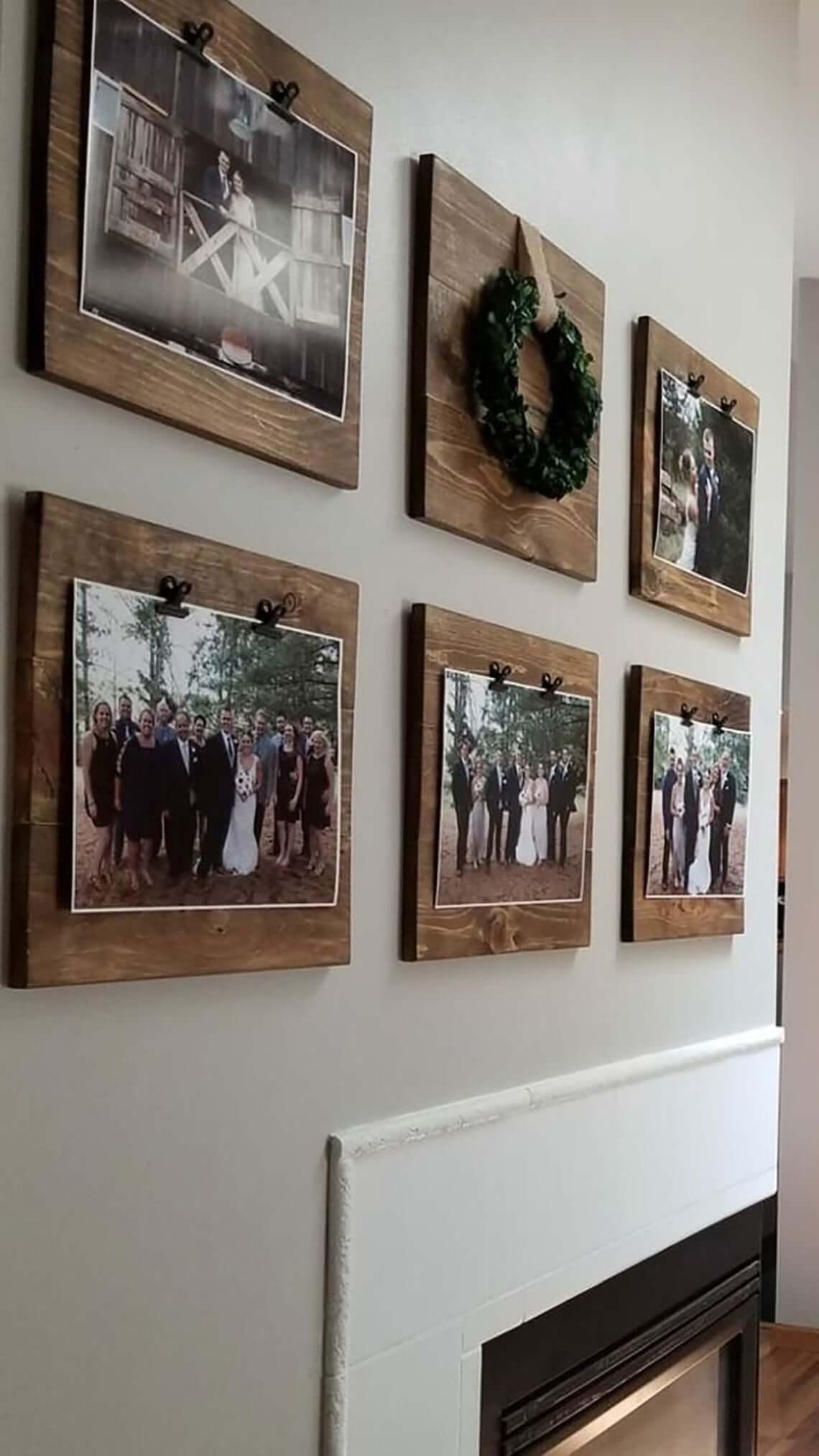 Écrans décoratifs en bois carrés