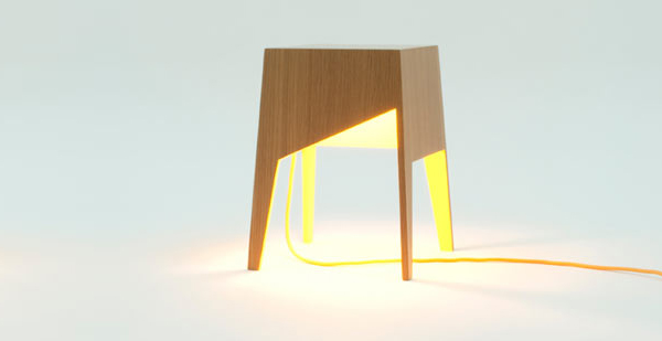 table d'appoint jaune