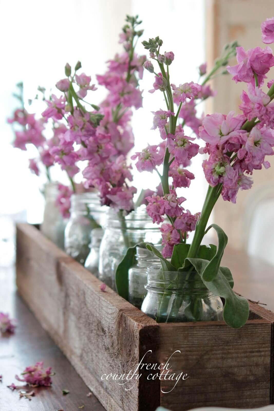 Une pièce maîtresse florale pour une touche de printemps