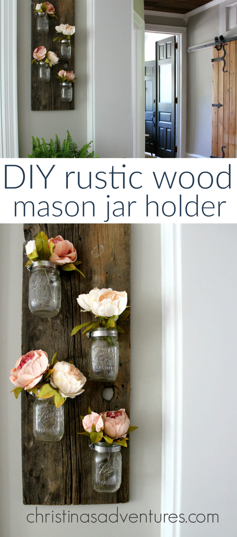 Art mural rustique vase Mason Jar