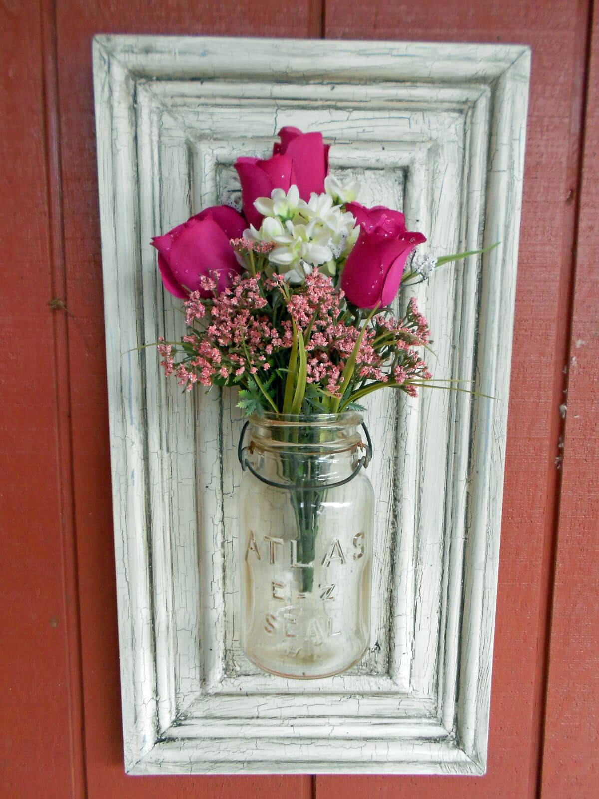 Porte-fleurs Vintage Atlas Mason Jar