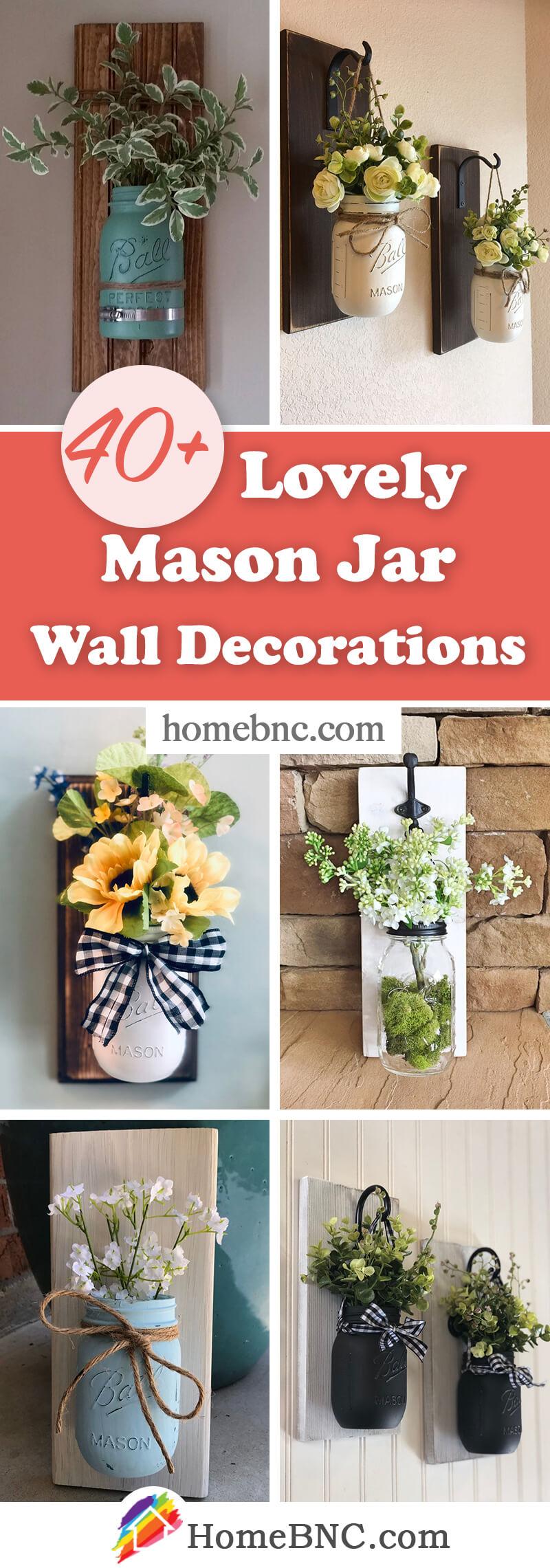 Idées de décoration murale Mason Jar